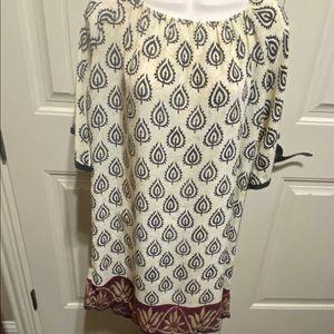 Tolani 100% silk size M dress/tunic